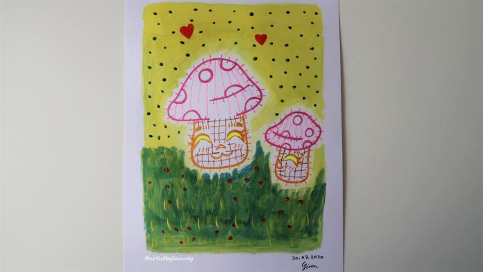 Post Jul 30 2020 Pic 1 - Joyful Mushrooms Drawing